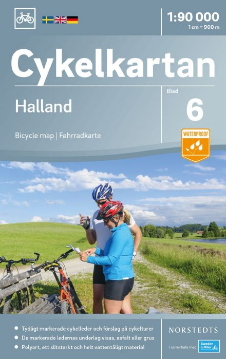 Sweden Cycling Map 06 - Halland
